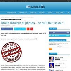 Droits d'auteur et photos... ce qu'il faut savoir