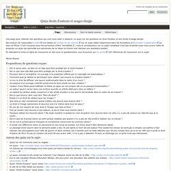 Quizz droits d'auteurs et usages élargis