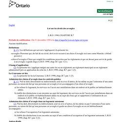 droits des aveugles (Loi sur les), L.R.O. 1990, chap. B.7