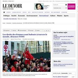 Les droits des femmes sont bafoués à travers le monde, dénonce l'ONU