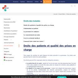 Droits des malades - La SFAR