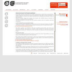 Droits d'auteur et diffusion numérique