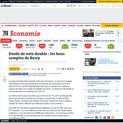 Droits de vote double : les bons comptes de Bercy