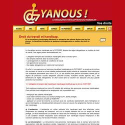 Vos droits : Droit du travail et handicap...