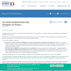 Les droits fondamentaux des étrangers en France
