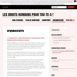 Les droits humains pour tou-te-s !