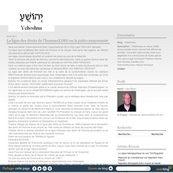 La ligue des droits de l'homme LDH