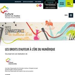 Les droits d'auteur à l'ère du numérique - Culture Centre-du-Québec