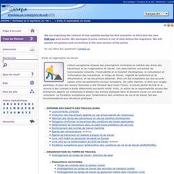 Droits et organisation du travail