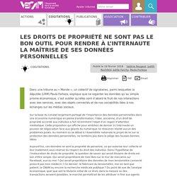 Les droits de propriété ne sont pas le bon outil pour rendre à l'internaute la (...) - VECAM