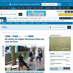 De drôles de sièges fleurissent dans les rues de Paris