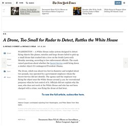 A Drone, Too Small for Radar to Detect, Rattles the White House - NYTimes.com
