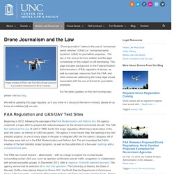 Drone Journalism and the Law