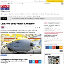 Drone sonde l'océan