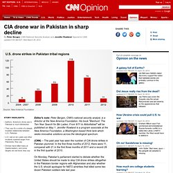 CIA drone war in Pakistan in sharp decline