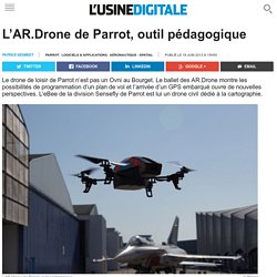 L'AR.Drone de Parrot, outil pédagogique