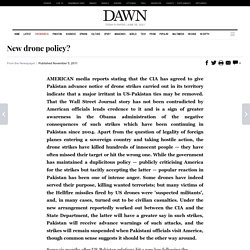 New drone policy? | Newspaper