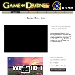 Game of Drones - If it flies, it fights