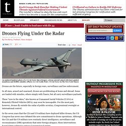 Drones Flying Under the Radar