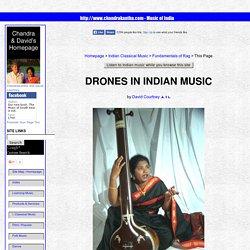 Drones in Indian Music (Tanpura, Surpeti, etc.)