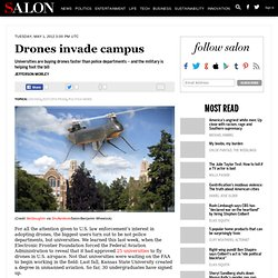 Drones invade campus - drones