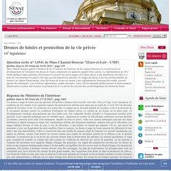 Drones de loisirs et protection de la vie privée - Sénat