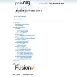 Drools Fusion User Guide