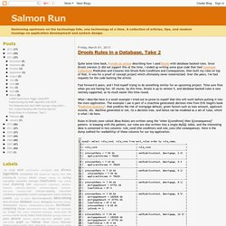 Salmon Run: Drools Rules in a Database, Take 2