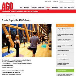 Drop-in: Yoga in the AGO Galleries