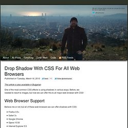 Drop shadow with CSS for all web browsers