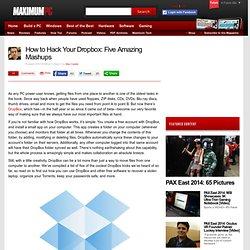 How to Hack Your Dropbox: Five Amazing Mashups