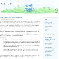 We've refreshed the Dropbox mobile website!