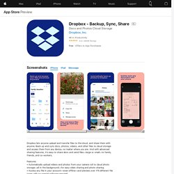 Dropbox - Backup, Sync, Share on the AppStore