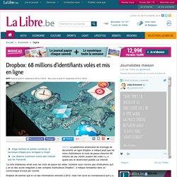 Dropbox: 68 millions d'identifiants volés et mis en ligne