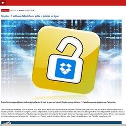 Dropbox : 7 millions d'identifiants volés et publiés en ligne- m.01net.com