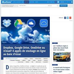 Outils de stockage dans le cloud : Dropbox, Google Drive, OneDrive ou iCloud ?