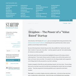 "Dropbox – The Power of a ""Value Based"" Startup"