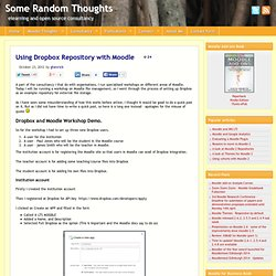 Using Dropbox Repository with Moodle
