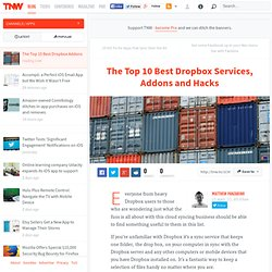 The Top 10 Best Dropbox Services, Addons and Hacks - TNW Apps