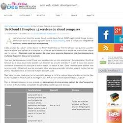 De iCloud à Dropbox : 5 services de cloud comparés