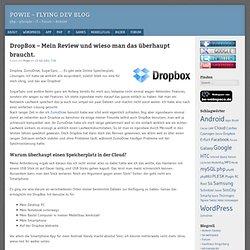 DropBox – Mein Review und wieso man das überhaupt braucht. « Powie – Flying Dev Blog