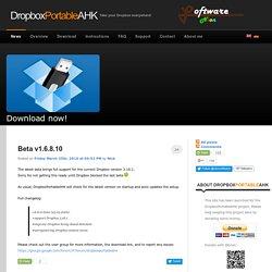 DropboxPortableAHK - Portable Dropbox App