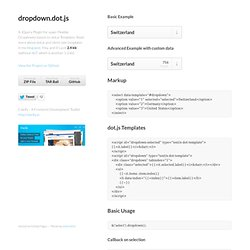 dropdown.dot.js by rogerdudler
