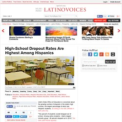 High-School Dropout Rates Are Highest Among Hispanics