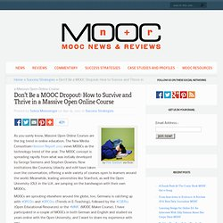 Don't Be a MOOC Dropout: How to Survive and Thrive in a Massive Open Online Course