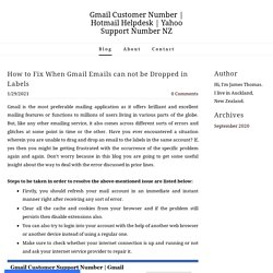 How to Fix When Gmail Emails can not be Dropped in Labels - Gmail Customer Number