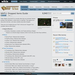 MHFU: Dropped Items Guide