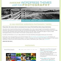20 Jaw-Dropping WordPress Photography Themes