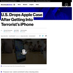 U.S. Drops Apple Case After Getting Into Terrorist's iPhone