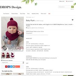 Baby Plum / DROPS Baby 36-7 - Free knitting patterns by DROPS Design